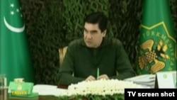 Prezident Gurbanguly Berdimuhamedow howpsuzlyk maslahatyny geçirýär, 2-nji aprel, 2014.