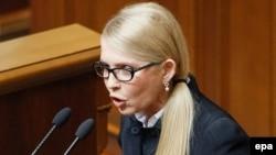 """Украинаның """"Батькивщина"""" партиясының жетекшісі Юлия Тимошенко."""