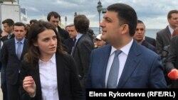 Юлия Марушевская и Владимир Гройсман