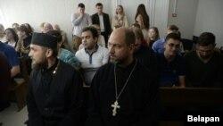 Падчас суду над Канстанцінам Бурыкіным, ліпень 2017 году