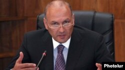 Armenia - Finance Minister Gagik Khachatrian.