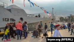 Празднование российского Дня моряка-надводника в Ялте, 26 октября 2019 года