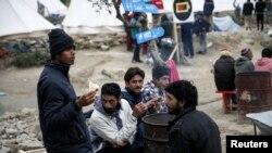 Izbeglice u kampu na Lezbosu