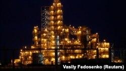 The Mozyr oil refinery in southeastern Belarus.