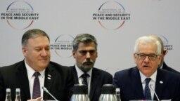 اتسک چاپوتوویچ، وزیر خارجه لهستان و مایک پومپئو، وزیر خارجه آمریکا،