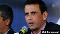 انریکه کاپریلس، رهبر اپوزیسیون ونزوئلا طرفدار الگوی بازار آزاد و کاهش روابط کشورش با ایران است.