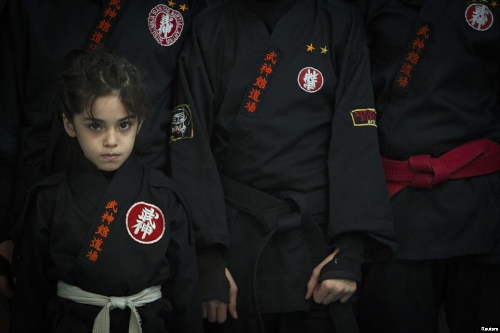 Iranian Women Show Their Ninja Skills