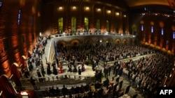 Suedi, gjatë ceremonisë së ndarjes së çmimit Nobel të vitit 2013