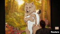تابلوی «باغ مخفی» اثر فرهاد مشيری