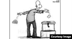 Карикатура на президентские выборы в Сирии