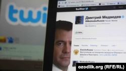 Russian Prime Minister Dmitry Medvedev's Russian-language Twitter feed has more than 2.5 million followers.