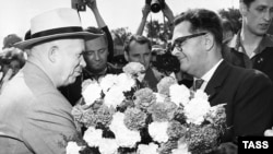 Одна из встреч Н.С.Хрущева с трудящимися ГДР, 1962 год