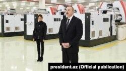 İ.Əliyev Mingəçevirdə tekstil zavodunun açılışında