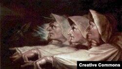 """Иоганн Генрих Фюссли, """"Три ведьмы"""". 1783"""