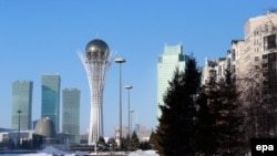 Вид на административный центр Астаны. Иллюстративное фото.