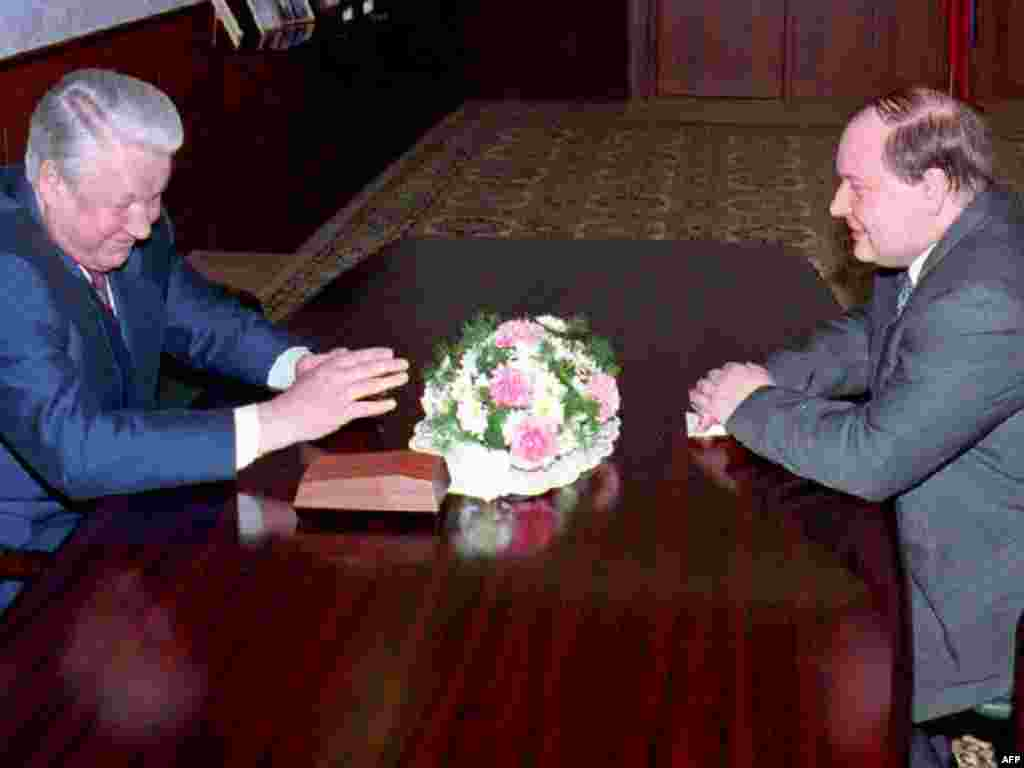 С Борисом Ельциным, 1 апреля 1994