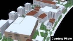 Компјутерски приказ на новите згради во центарот на Охрид