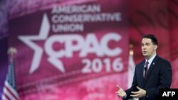 Республикалық партия атынан президент сайлауына түсуге үміткер болған Скотт Уокер. Мэриленд, 3 наурыз 2016 жыл.