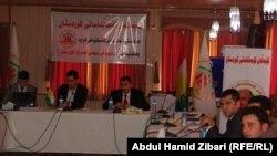 مشاركون في ندوة بحث الاوضاع السياسية في كردستان