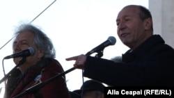 Траян Бэсеску выступает на центральной площади Кишинева, 25 марта 2018 г.