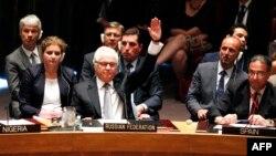 Представитель России в Совебезе ООН Виталий Чуркин голосует против создания трибунала по расследованию катастрофы рейса MH17
