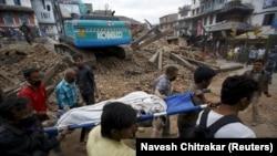Prizor iz Katmandua, 25. april 2015.