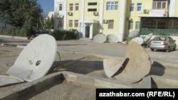 Aşgabat, Parahat-4, aýrylan antennalar