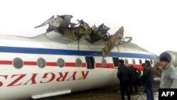 Аңтарылып калган Ту-134 учагы. Ош аба майданы, 28-декабрь.