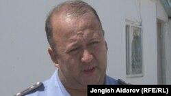 Баткен облустук ички иштер башкармалыгынын башчысынын орун басары Улан Рысбеков.