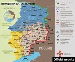 Военно-политическая ситуация на востоке Украины на 12 февраля