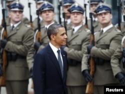 Президент США Барак Обама во время визита в Польшу, май 2011 года