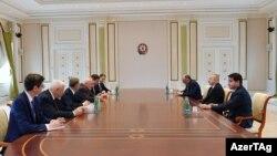 Ադրբեջանի նախագահ Իլհամ Ալիևն ընդունում է ԵԱՀԿ Մինսկի խմբի համանախագահներին, արխիվ