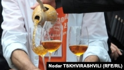 A Georgian wine festival in Tbilisi in May.