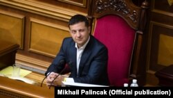 Президент України Володимир Зеленський на засіданні Верховної Ради. Київ, 3 вересня 2019 року