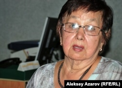 Внучатая племянница Ахмета Байтурсынова Меруерт Тыныбекова.