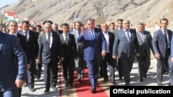 Tajik President Emomali Rahmon has no oil riches, but he's no pauper either.