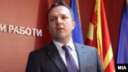 Министерот за внатрешни работи Оливер Спасовски.