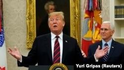 ԱՄՆ նախագահ Դոնալդ Թրամփ և փոխնախագահ Մայք Փենս, Սպիտակ տուն, Վաշինգտոն, 19-ը հունվարի, 2019թ.