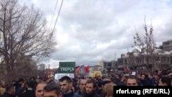 Protesta në Prishtinë për dorëheqjen e Jabllanoviqit dhe kthimin e statutit të Trepçës.