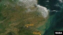 Ла-Манш. Спутниковая фотография