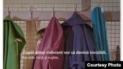 Afiș al campaniei împotriva abuzului sexual al copiilor în Moldova.