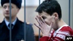 Надежда Савченко в Басманном суде Москвы. 4 марта 2015 года.