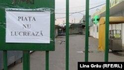 Piața centrala din Chișinău și alte piețe au fost închise după declanșarea pandemiei