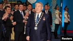 Нұрсұлтан Назарбаев ұлықтау рәсімінде. Астана, 29 сәуір 2015 жыл.