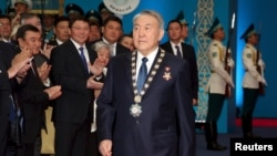 Нурсултан Назарбаев на церемонии инаугурации президента Казахстана. Астана, 29 апреля 2015 года.