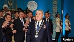 Президент Нұрсұлтан Назарбаев бесінші инаугурациясы кезінде. Aстана, 29 сәуір 2015 жыл.