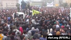 Pamje nga protesta e djeshme në Kabul.