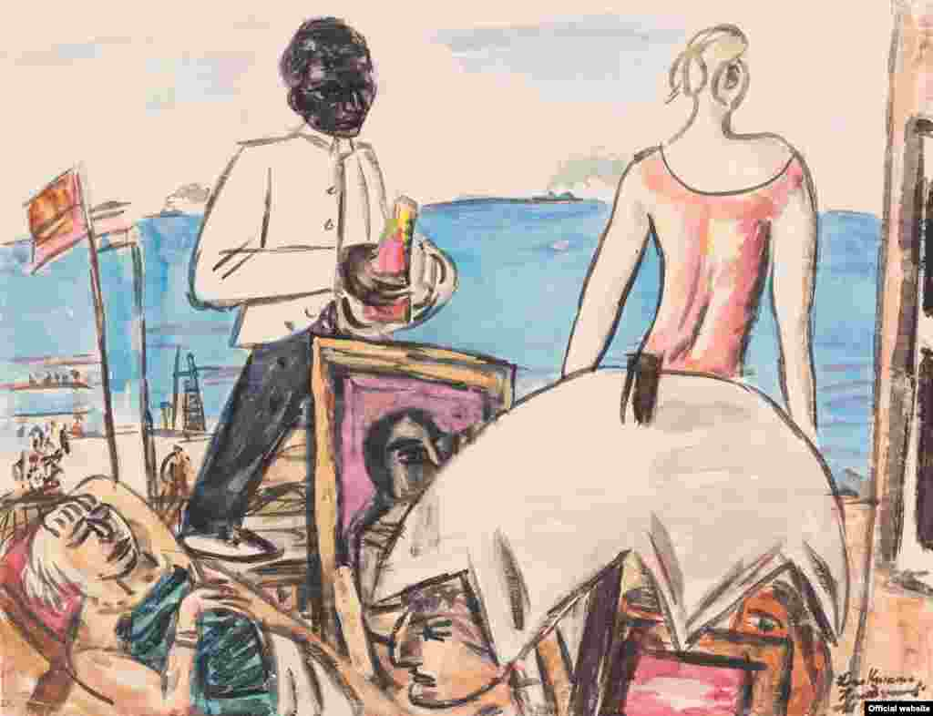 Max Beckmann (1884–1950) Cafenea pe malul mării la Zandvoort, 1934