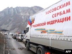 Ruski kamioni na Jarinju, decembar 2011.