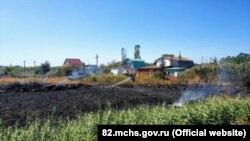 Пожар в Феодосии 18 сентября